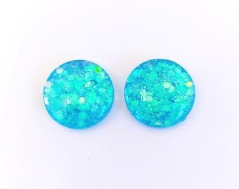 The 'Fantasy' Glass Glitter Earring Studs