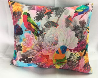 Floral + Bird French Print Pillow