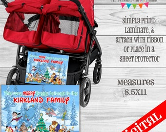 Disney Very Merry Stroller Tag digital or printed