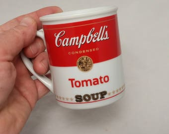 Vintage 1994 Campbell's Tomato Soup Mug - 125th Anniversary - Coffee Mug, Tea Mug, Coffee Cup, Tea Cup, Soup Mug, Soup Cup