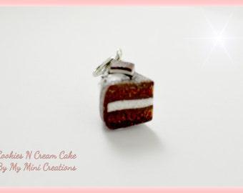 Cookies N Cream Charm , Miniature food jewelry,  Miniature food,