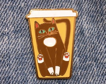 COFFEE CATS Coffee Cat To Go Enamel Pin