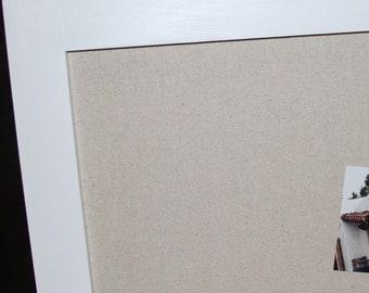 "Framed Bulletin Board- Framed Magnetic Bulletin Board, 38""x70"",  Framed Magnet Board, Magnetic Board, Memo Board, Linen Bulletin Board"