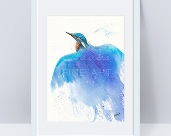 Soar into the Sky - Kingfisher Watercolour Print, Kingfisher Painting, Kingfisher Wall Art, Kingfisher Giclee Print