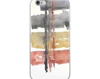 Abstract Phone Case, iphone 7 case, modern phone case, iPhone 8, elegant iPhone X, Watercolor case, 7 Plus, 6 iPhone 6S, 8 plus art case