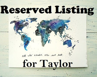 Custom Map RESERVED for Taylor