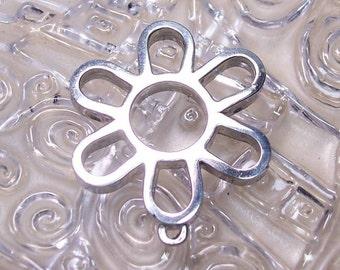 Flower Bead Frame in Sterling Silver