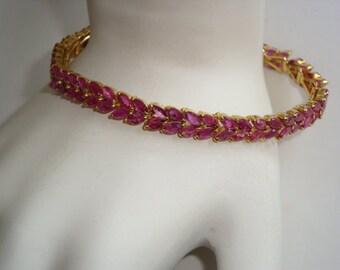 REDUCED  100 Genuine Rubies Sophisticated Ladies Bracelet