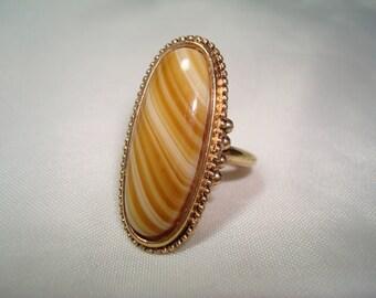 1980s AVON Faux Tigereye Ring.