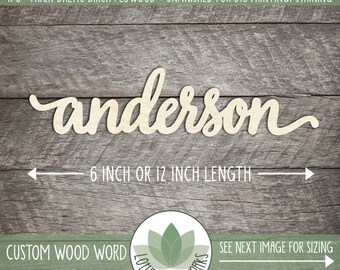 Custom Wood Word, Lowercase Letters, Custom Wooden Sign, Laser Cut Personalized Words, Custom Housewarming Gift, Blank Wood Shapes