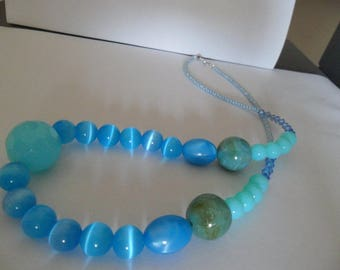 Turquoise beads necklace summer
