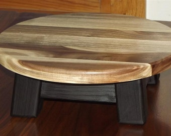 "walnut/ Reclaimed wood/ Riser/ Modern/ round/  step stool/ 4""H"
