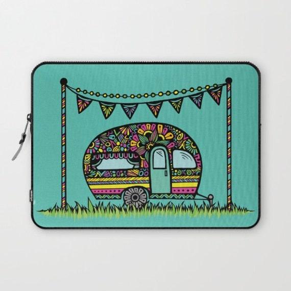 Zentangle - Little Camper Laptop Sleeve