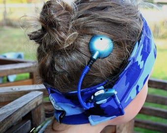 Child sport headband for cochlear implant