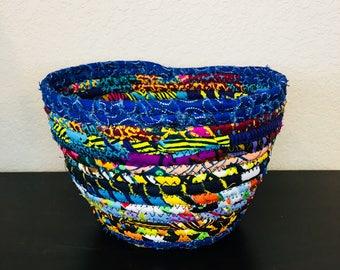 DRA Basket - fabric basket - aftican basket - multi color