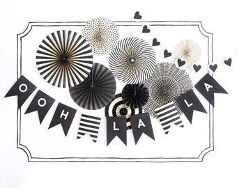 Black and White Letter Banner - Black Letter Banner - Wedding Letter Banner -  Black Word Banner - My Mind's Eye Letter Banner Black Pennant