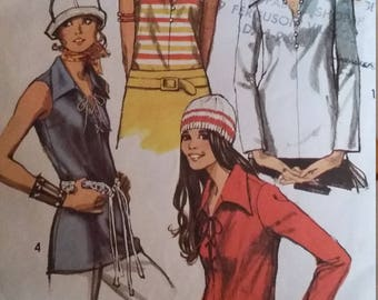 Vintage Simplicity 9460 Sewing Pattern Size 14 Set of Blouses
