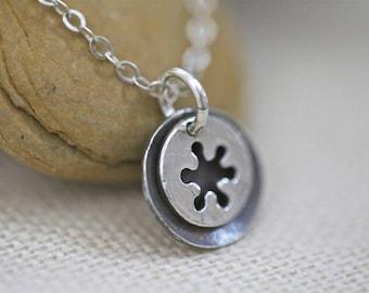 Sterling necklace tiny sterling necklace