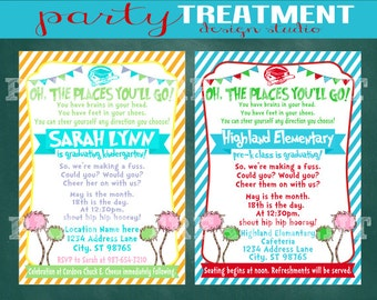Oh the Places You'll Go Graduation Invitation Digital or Printed 127
