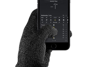 Single-Layered Touchscreen Gloves - Black