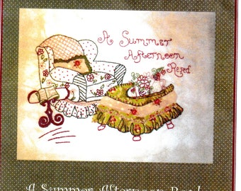 Embroidery Pattern Reading Chair Buttercream Summer Reading and Library Chair Theme