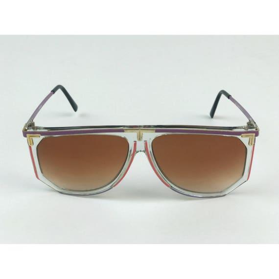 80's Retro Tinted Sunglasses Vtg Summer Accessories - Womens VTG Plastic Sunnies Rare Clear Sunglasses - 1980's Eyewear