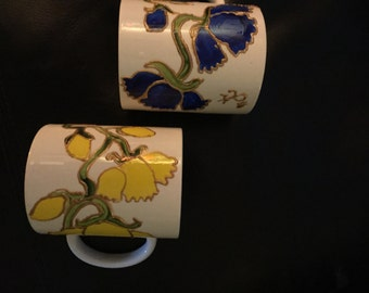 Unique hand painted mugs and cups and saucers