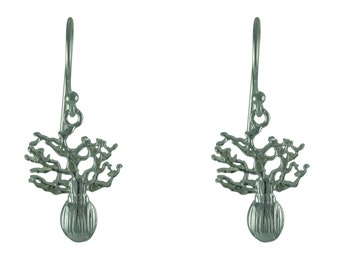 Boab Tree of Life 925 Sterling Silver Earrings