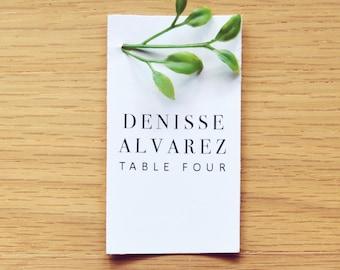 Minimal Leaf Place Card  ( SET OF 10 )