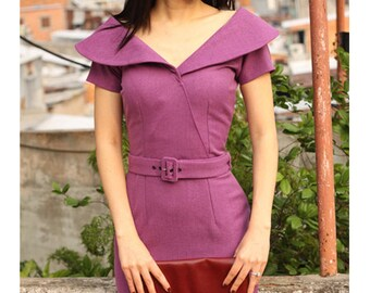 AIMEE wiggle pencil dress custom made 50s style
