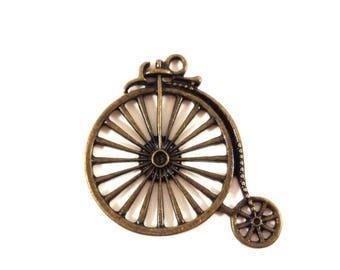 1 charm bicycle bike color bronze (Ref.49)