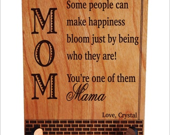 Mothers Day Gift Ideas - Mom Mother's Gifts - Gift for Mom - Personalized Plaque from daughter - Son, PLM021
