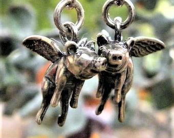 flying pig earrings, when pigs fly earrings
