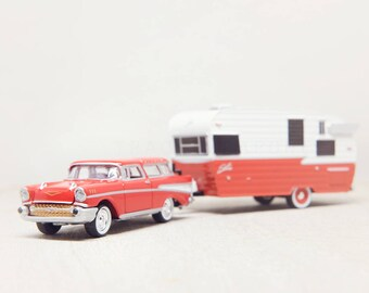 Nursery Decor, Kids Wall Art, Toy Red Vintage Car, Boys Room Decor - Chevy Nomad, Girls Room, Red Camper, Playroom Artwork, Whimsical Office
