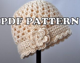 PDF PATTERN - Vintage Flowered Cloche