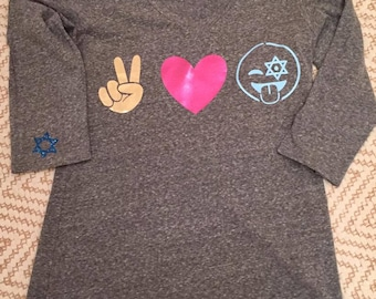 PEACE LOVE EMOJI Hanukkah shirt