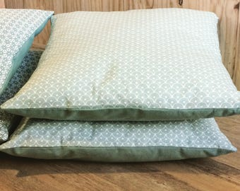 Pillow cover green celadon scales
