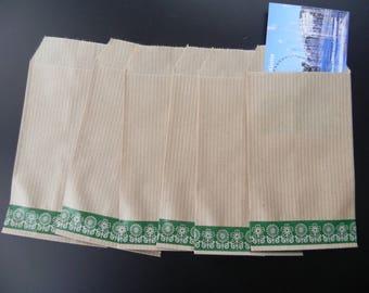 20 Kraft envelopes 7 x 12 cm and masking tape-flowers