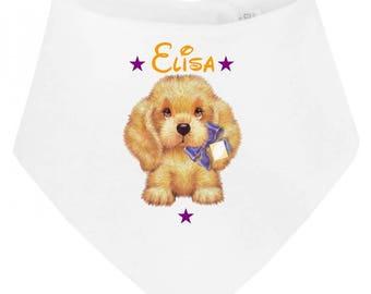 Personalized with name dog baby bib bandana