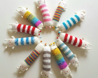 Kitty Kickers,  Organic Catnip Toy, Kick Sticks,  Silver Vine Cat Toys, Knitted cat kicker stick, Jalegurumi kicker, Matatabi Cat Toys,