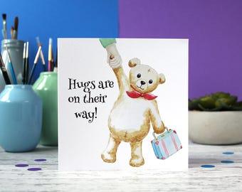 SALE ** New baby card, Teddy bear card, Sympathy card, blank card, greeting card