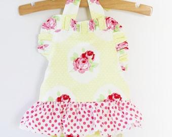 ROSEY RUFFLED Baby Romper, Vintage Style Baby Girl Boho Romper, Baby Girl Gift, Nostalgia Ruffled Baby Girl Romper