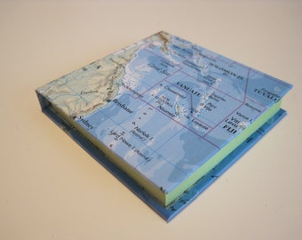 Sticky Note Holder (3x3in.) - Map - Post-It Notes - Desk Accessory