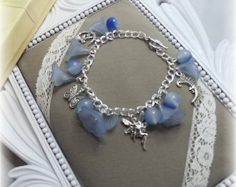 Bracelet spring fairy blue and silver