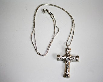 Precious Metal Clay Cross Pendant