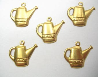 SET of 5 CHARMS METALS Gold: Watering can 18 mm