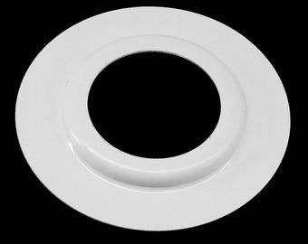 2X Black & White Metal Lamp Shade Reducer Plate Light Fitting Rink Washer Adaptor Converter U.K