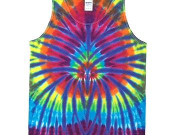 Tie Dye Tank Top - Spider Plum