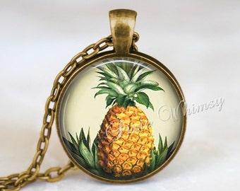 PINEAPPLE Necklace, Pineapple Pendant, Pineapple Keychain, Pineapple Jewelry, Fruit Necklace, Fruit Pendant, Fruit Jewelry, Vegan