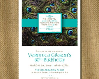 PRINTABLE - 60th Birthday Invitation